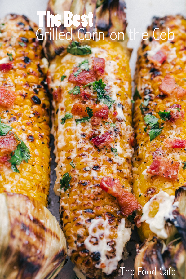 Who new The Best Grilled Corn on the Cob was so simple? Grilled to juicy kernel perfection, slathered in mayonnaise, and topped off with bacon, cilantro and a dash of parmesan, this is a must summer side.