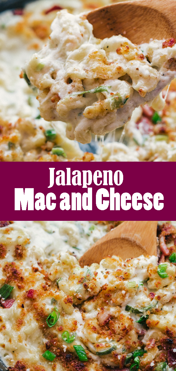 Jalapeno Mac and Cheese is kicked up version of the delicious mac and cheese we all know and love.  Perfect for a weeknight comfort food delight that will be creamy and satisfying.
