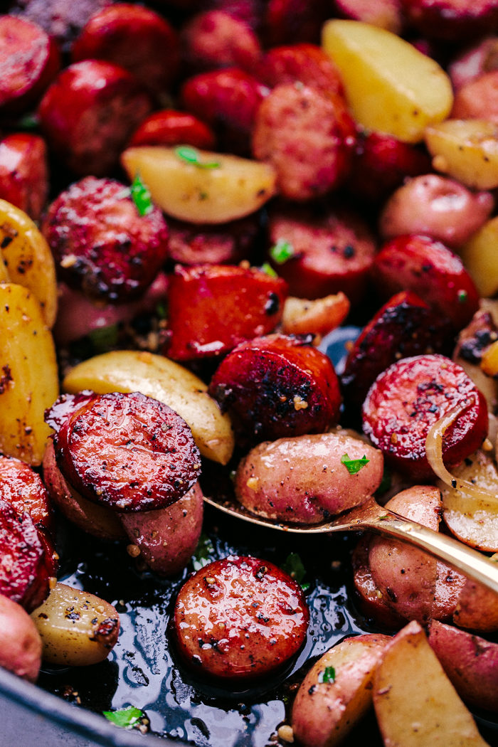 smoked sausage and potatoes
