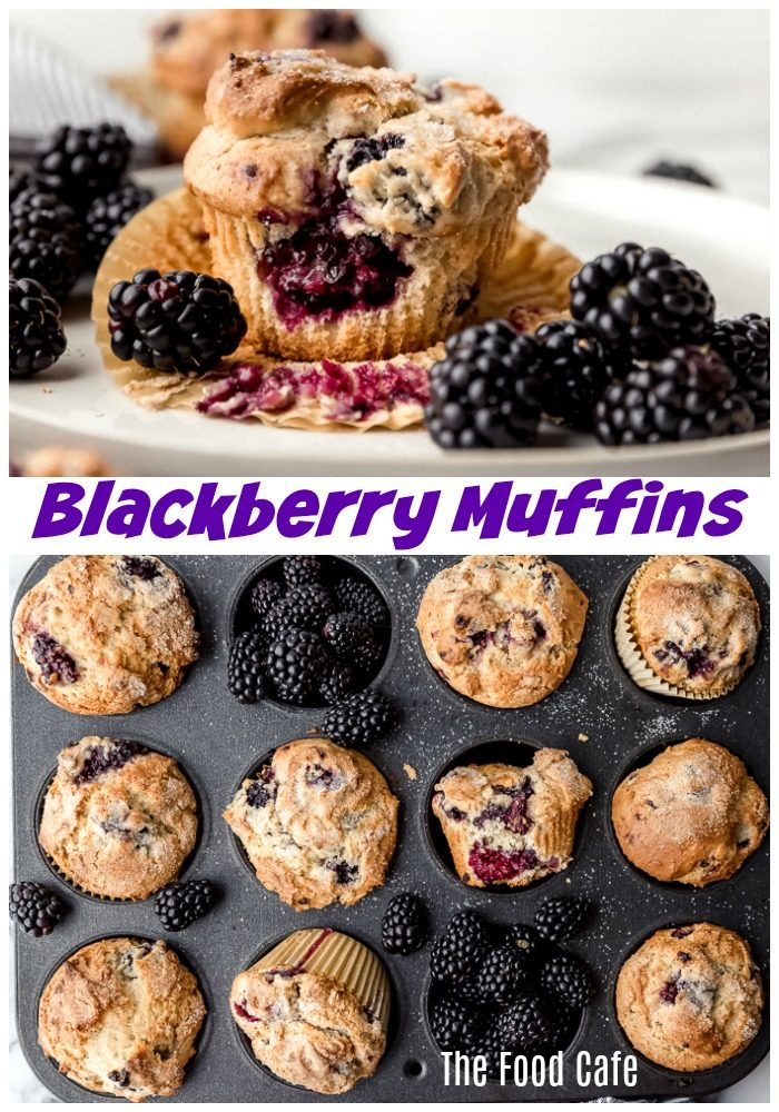 The Best Blackberry Muffins