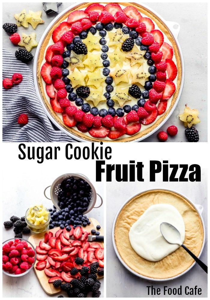Fruit pizza recipe sugar cookie