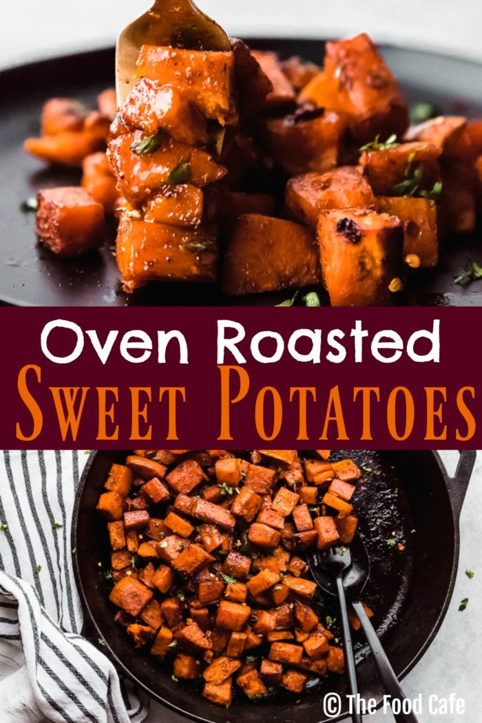 Roasted sweet potato cubes, by The Food Cafe